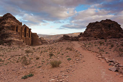 Ruins Of Ad Deir Monastery At Ancient Poster