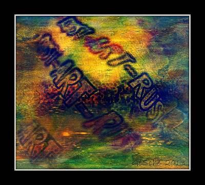 Rust-art 04 Poster by Gertrude Scheffler