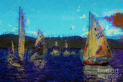 Poster featuring the photograph Sailing Day  by Julie Lueders