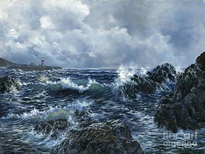 Poster featuring the painting Sailor's Light by Lynne Wright