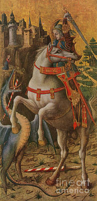 Saint George And The Dragon Poster by Photo Researchers
