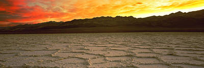 Salt Flat At Sunset, Death Valley Poster by Panoramic Images
