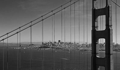 San Francisco Through Golden Gate Bridge Poster by Twenty Two North Photography