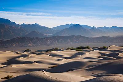 Sand Dunes In A Desert, Mesquite Flat Poster