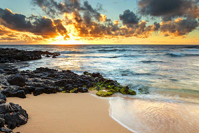 Sandy Beach Sunrise 7 Poster