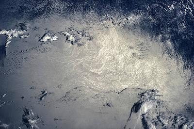 Satellite View Of North Atlantic Ocean Poster