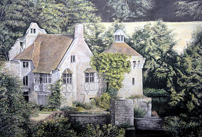 Poster featuring the painting Scotney Castle by Rosemary Colyer