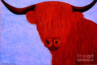 Scottish Highlands Cow Poster by Tim Townsend