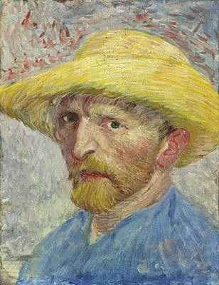 Self-portrait With Straw Hat Poster by Vincent van Gogh