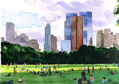 Sheep Meadow Poster by Clifford Faust