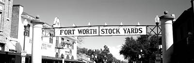 Signboard Over A Street, Fort Worth Poster