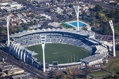 Simmonds Stadium Home Of The Geelong Poster by Brett Price