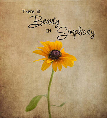 The Beauty Of Simplicity Poster by Kim Hojnacki