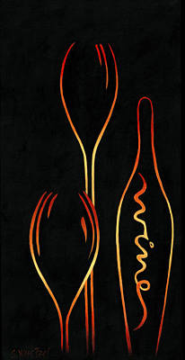 Simply Wine Poster by Sandi Whetzel
