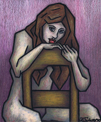 Sitting Nude Poster by Kamil Swiatek