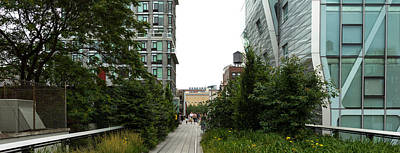 Skyscrapers In A City, High Line Park Poster