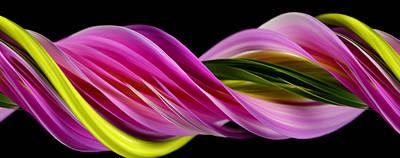 Slit-scan Image Of Dahlia Flower Poster