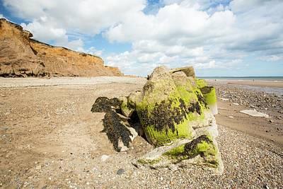 Smashed Concrete Sea Defences Poster