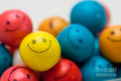 Smiley Face Gum Balls Poster by Amy Cicconi