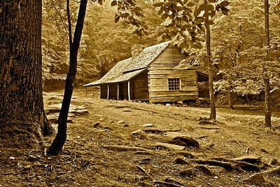 Smoky Mountain Cabin Poster by Frozen in Time Fine Art Photography