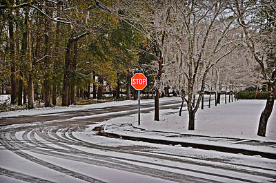 Poster featuring the photograph Snowy Street by Linda Brown