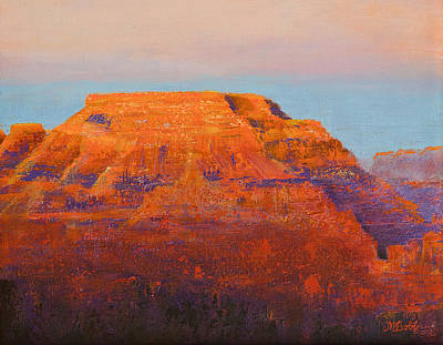 South Rim Sunset Poster by Margaret Bobb