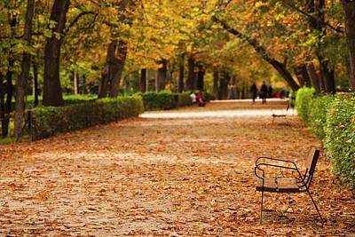 Spain, Madrid, Parque Del Buen Retiro Poster by Walter Bibikow