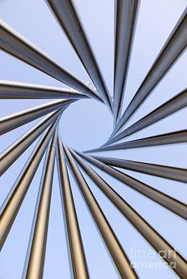 Spiral Metal Sculpture At Fermilab Poster by Mark Williamson