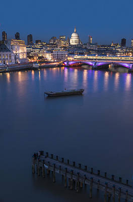 St. Paul_s Cathedral And Blackfriars_ Poster