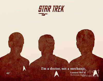 Star Trek 46th Anniversary - Mccoy Quote Poster by Pablo Franchi