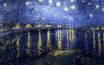 Poster featuring the painting Starry Night Over The Rhone by Vincent Van Gogh