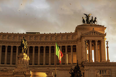 Statue Of Victor Emmanuel  Rome, Italy Poster by Reynold Mainse
