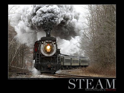 Steam At Elmhurst Poster by Daniel Troy
