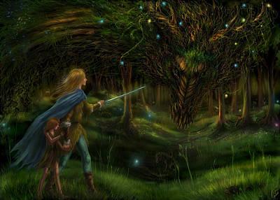Strange Encounter Poster by Katerina Romanova
