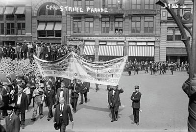 Streetcar Strike, C1915 Poster by Granger