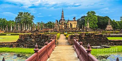 Sukhothai Historical Park Poster by Anek Suwannaphoom