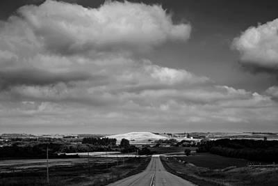 Summer Prairie Landscape Bw Poster by Donald  Erickson
