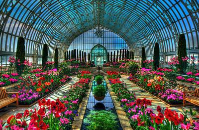 Sunken Garden Como Conservatory Poster by Amanda Stadther