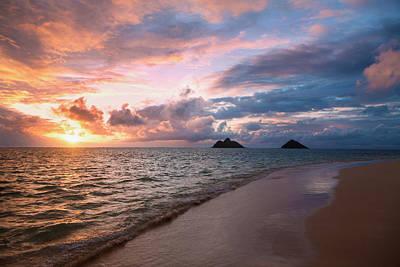 Sunrise At Lanikai Beach  Kailua Poster by Tomas del Amo