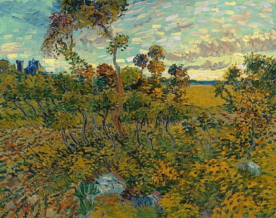 Sunset At Montmajour Poster by Vincent van Gogh
