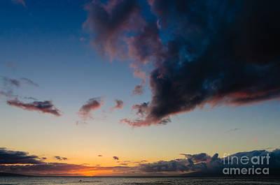 Sunset On Kaanapali Maui Hawaii Usa Poster