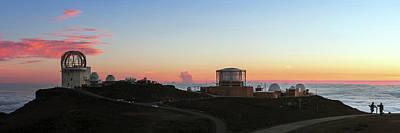 Sunset Over Haleakala Observatories Poster