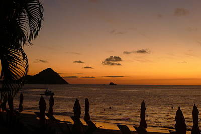 Poster featuring the photograph Sunset - St. Lucia by Nora Boghossian