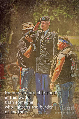 Support Our Troops Poster by Tom Gari Gallery-Three-Photography