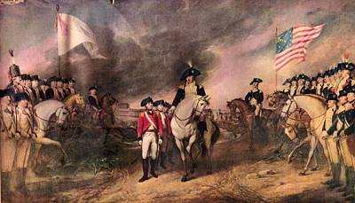 Surrender Of Lord Cornwallis Poster by MotionAge Designs