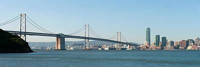 Suspension Bridge Across A Bay, Bay Poster