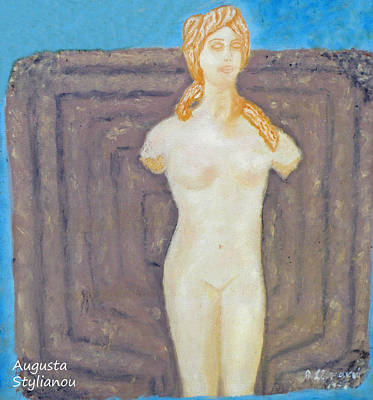Symbol Of Fertility And Goddess Aphrodite Poster by Augusta Stylianou