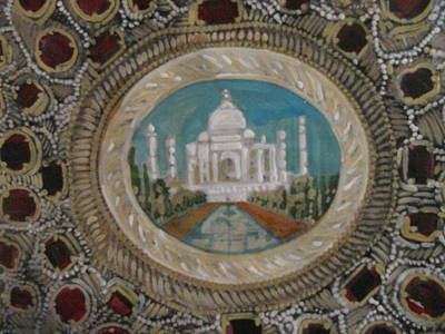 Poster featuring the painting Taj Mahal by Vikram Singh