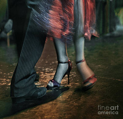 Poster featuring the photograph Tango - The Dance by Michel Verhoef
