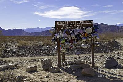 Teakettle Junction Death Valley Poster